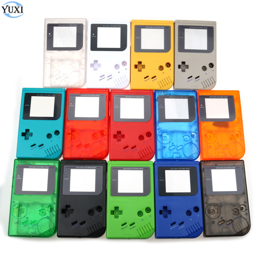 YuXi For GameBoy Classic Game Replacement <font><b>Case</b></font> Plastic Shell Cover for GBO DMG Console housing For <font><b>GB</b></font> <font><b>Case</b></font> image