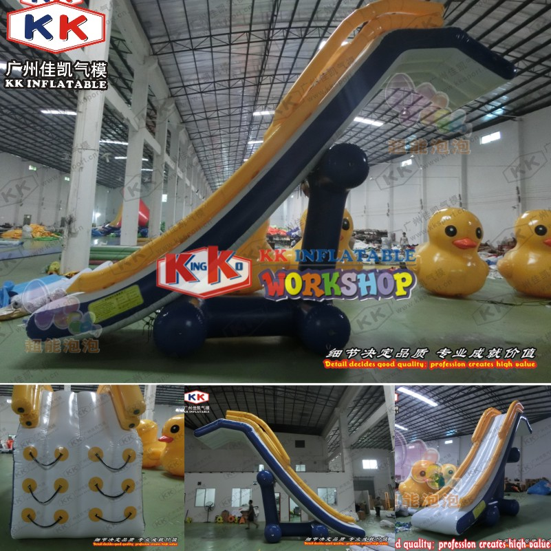KK Factory Inflatable Dock Slide/ boat use Inflatable slide/ yacht water slide for sale - 6