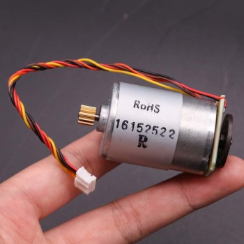 DC 12V-24V 10800RPM Micro High Speed RS-385 Printer Motor + Speed Encoder Feedback + Magnetic Disk + Copper Gear 14T + Wire,DIY image