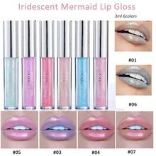 6colors Iridescent Mermaid Lip Gloss Glitter Gloss Pretty Fashion Lip Makeup Modern Popularity Practical Soft For Lady Cosmetics