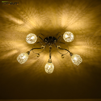 Chandelier 5 heads with 5pcs 12w led bulb crystal Led  for hotel Living Room Bedroom for chandelier ceiling pendant lamp