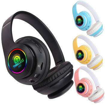 66BT Foldable Bluetooth 5.0 Wireless Headphone Rechargeable Luminious Heavy Bass Wireless Headset Wireless Bluetooth Headphone image