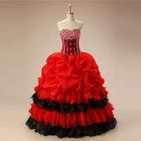 Sweet 16 Quinceanera Dresses Red Luxury Beading Ball Gown Prom Party Dress Plus Size Gala Gowns Sweet Sixteen Dress Elegant 2020