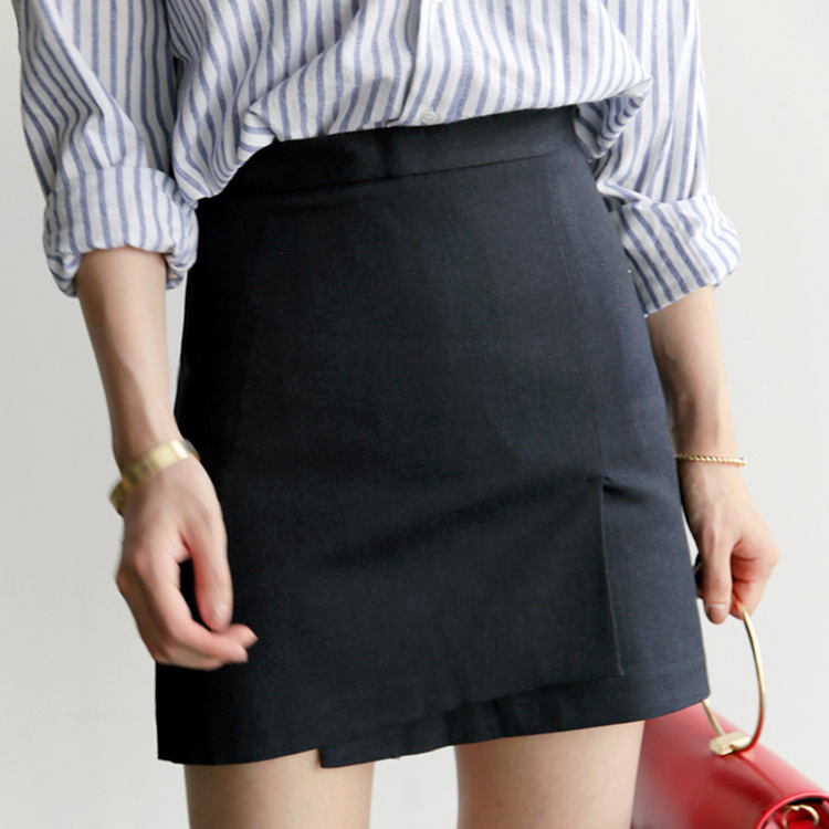2019 Spring And Summer New Style Fashion High-waisted Hipster Irregular Anti-Exposure Divided Skirt A- Line Short Dress Skirt Wo