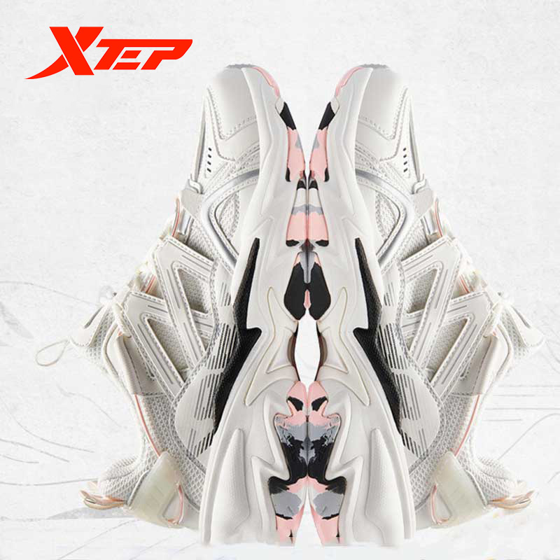 Xtep [Chinoiserie] Women Casual Chunky Sneakers Autumn Fashion Outdoor Anti-Slip Sport Shoes For Women Dad Sneakers 880118320098