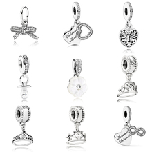 Fashion Colletion 100% 925 Sterling Silver Forever Friend Dangle charms Fit Pandora Bracelet Beads For Jewerly Making Gift
