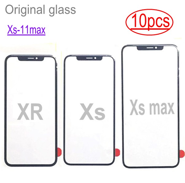10pcs wholesale for iPhone 11 pro max X XS XR MAX glass LCD touch lens outer glass repair Replacement only glass(China)