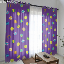 Purple Tulle Curtains for Living Room Modern Window Treatments Voile Sheer Curtain Kitchen Drapes Bedroom gordijnen
