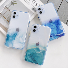 Glitter Gradient Nebula Marble Clear Phone Case for