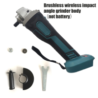 18V Brushless Cordless Impact Angle Grinder Head Set Multi functional 125mm Power Tools Accessories Without Battery
