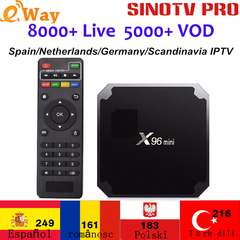 Arabic French IPTV TV Box Android 7 1 S905W X96mini Norway Sweden Dutch Subscription IPTV French