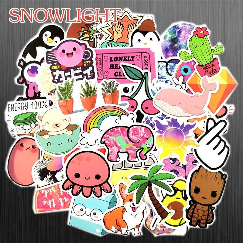 50PCS Retro Cartoon Animal Holiday Style Sticker Graffiti Travel For DIY Suitcase Luggage Laptop Bicycle Skateboard Car Sticker