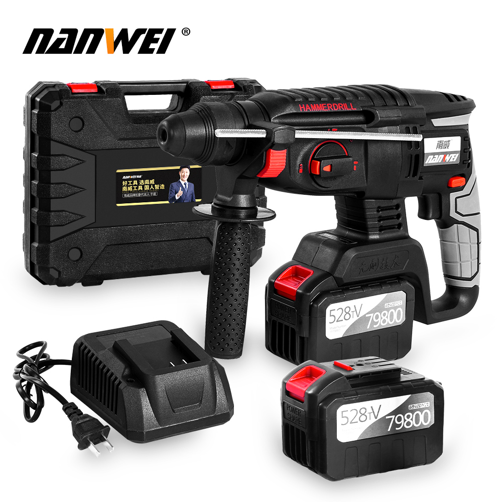 21V Electric Drill Hammer Cordless Hammer Drill Sds Rotary Hammer Kit On Sale