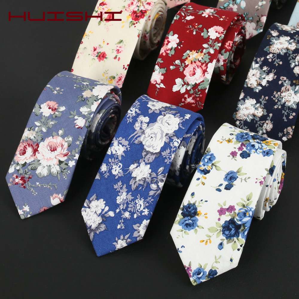 HUISHI Bowtie Fashion Cotton Flower Necktie Classical Colorful Floral Stitching Lovely Ties Handkerchief Designer Handmade Gifts