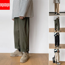 Print Straight Cargo Pants Male Khaki Fitness Casual Streetwear Army Green Hip hop Japan Trousers Men Fashion Joggers Harem Pant(China)