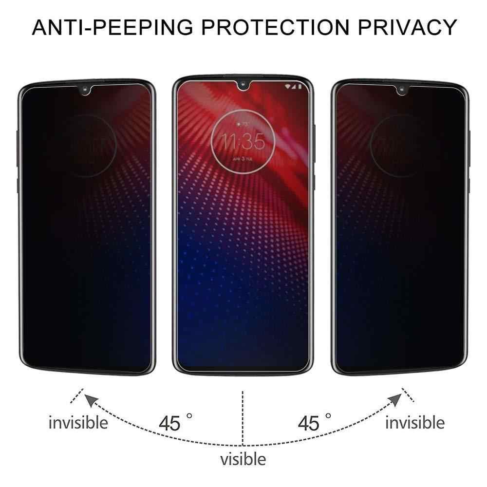 2.5D Privacy Vetro Temperato per Motorola Moto Z Z2 G4 G6 G7 P30 Gioco Nota G4 G5S G7 E5 Più g7 Potere Anti Protezione Dello Schermo Glare