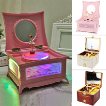 Classic Rotating Dancer Ballerina Piano Music Box Clockwork Plastic Jewelry Girls Hand Crank Mechanism Christmas Gift