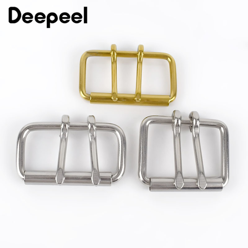 1PC ID52/60/102mm Stainless Steel Double Needle Belt Buckle Anti-allergy Metal Pin Buckle Head DIY Belt Bag Hardware Accessories