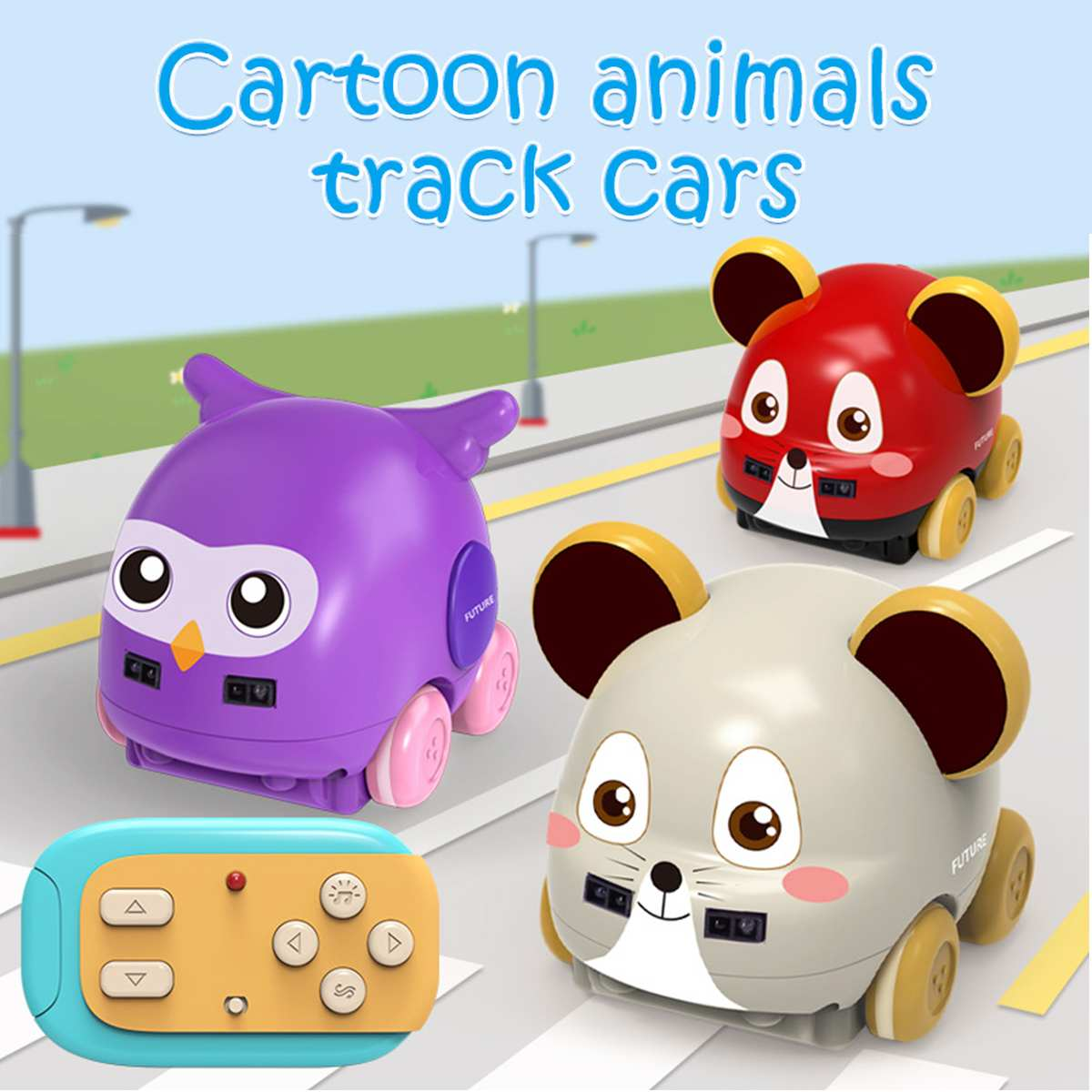 RC Robot Cartoon Animal Toys Wireless Pet Light Rechargeable Remote Control Electronic Animal Car Intelligent Robot Kids Toys
