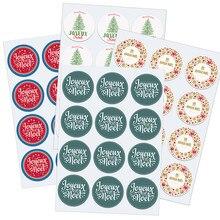 Autocollants de scellage de cadeaux français Joyeux noël, étiquettes de décoration pour fête de noël, nouvel an