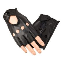 Детские кожаные перчатки, черные детские спортивные перчатки