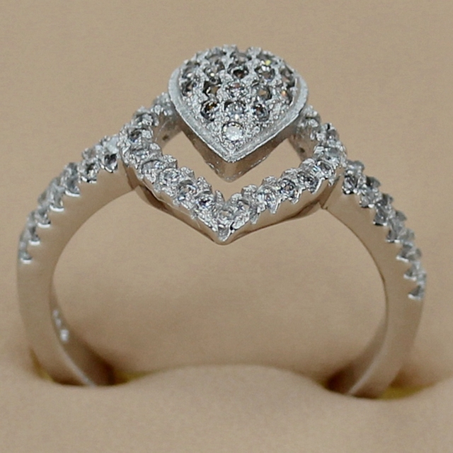 Shunxunze charm best sellers wedding rings jewelry for women dropshipping white cubic zirconia rhodium plated r3236 size 6 7 8 9
