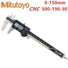 Ferramentas de medição de aço inoxidável eletrônicas do calibre 150-500-30 caliper digital lcd vernier pinças mitutoyo cnc 6 polegadas 196mm