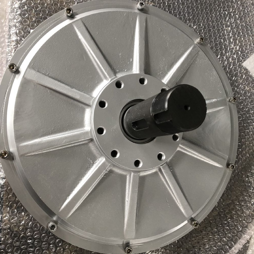 CE 10KW 1000RPM 220V AC Disc PMG Inner Rotor Three Phase Coreless Permanent Magnet Generator Alternator