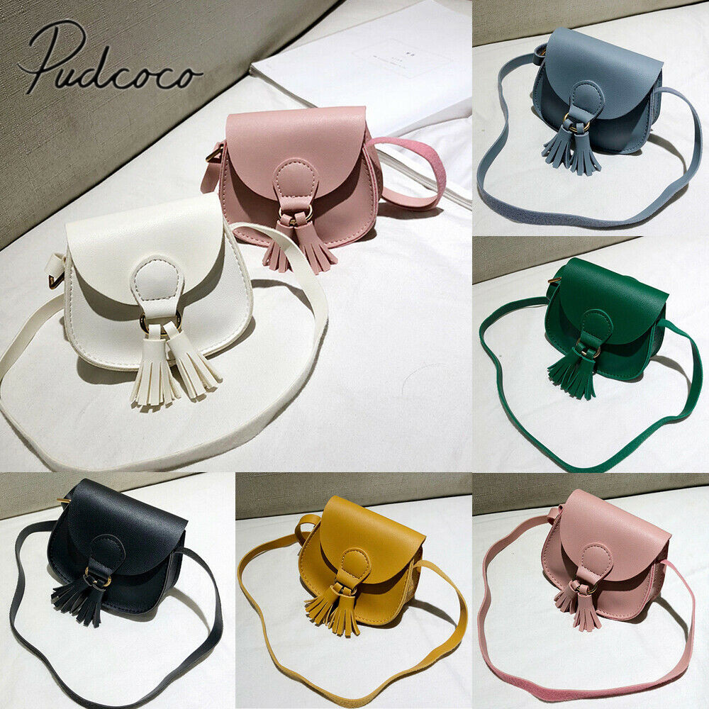 New Children Girls Women Small Shoulder Bag Leather Waist Bag Crossbody Handbag Ladies