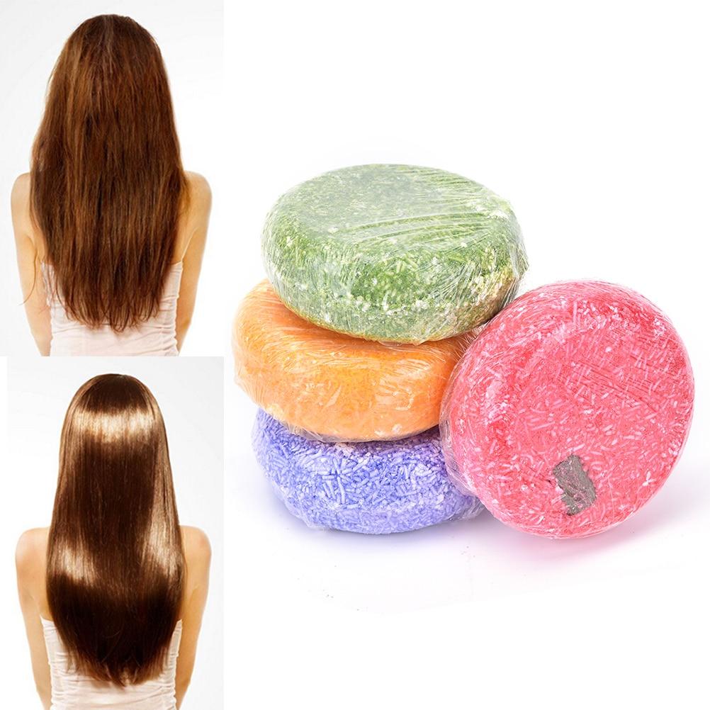 4 Стили Мыло Ручной Работы Ароматный Жасмин Блестящие Гладкие Волосы Мыло Шампунь Восстанавливает Волосы Для Глубокого Питания Волос Шампунь Мыло