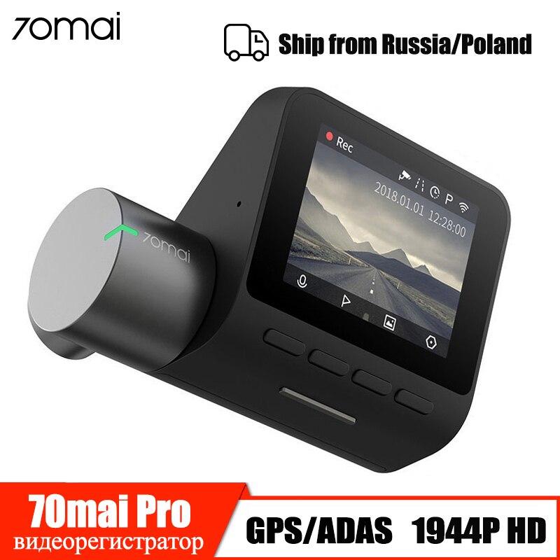 ADAS 70mai Pro Traço Cam Wifi GPS Câmera DVR Carro HD 1944P Visão Noturna G-sensor 24H monitor de estacionamento 70 Mai Dashcam Gravador de Vídeo