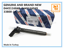 GENUINE AND BRAND NEW DIESEL FUEL INJECTOR 0445116048, 0445116049, 33800 3A100