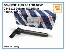 Inyector de combustible diésel genuino y nuevo 0445116048, 0445116049, 33800 3A100