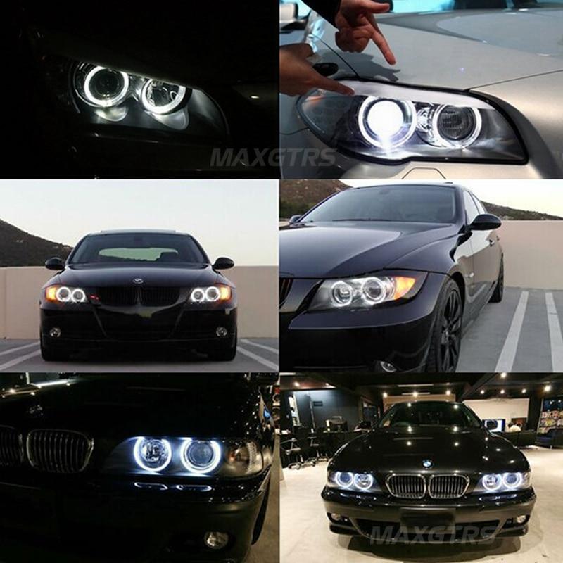 2x 60 70 80 85 90 95 χιλιοστά Angel Eye COB LED Τσιπ - Φώτα αυτοκινήτων - Φωτογραφία 5