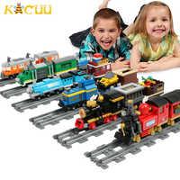 Mais novo cidade blocos de trem compatível legoinglys blocos de construção faixas ferroviário playmobil modelo brinquedos de construção para crianças presente