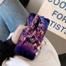 Marvel Avengers TPU black Phone Case Cover Hull for Redmi Note 8 8A 8T 7 6 6A 5 5A 4 4X 4A Go Pro(China)