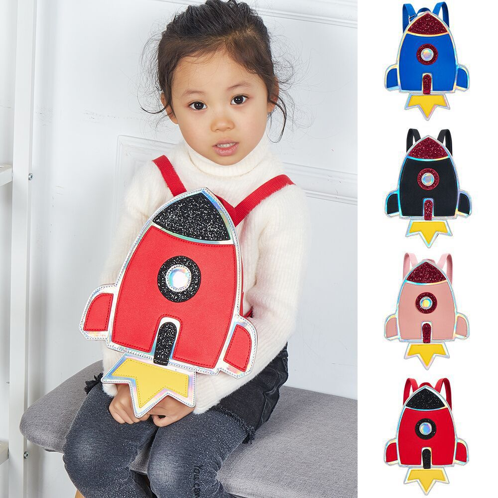 2019 New Style Creative Small Rocket Children Kindergarten Backpack 1-3-5 Years Old Baby Anti-loss Lost Small Bookbag