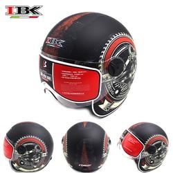 IBK kaski motocyklowe skuter elektryczny Casco Casque Unisex 3/4 Anti-UV otwarta twarz w nowym stylu cztery pory roku kask