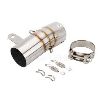 Para BMW S1000RR 2019, 2020 S 1000 RR 19 20 S1000 RR S1000RR escapar Slip-on silenciador de Escape para motocicleta medio tubo de conexión 60MM