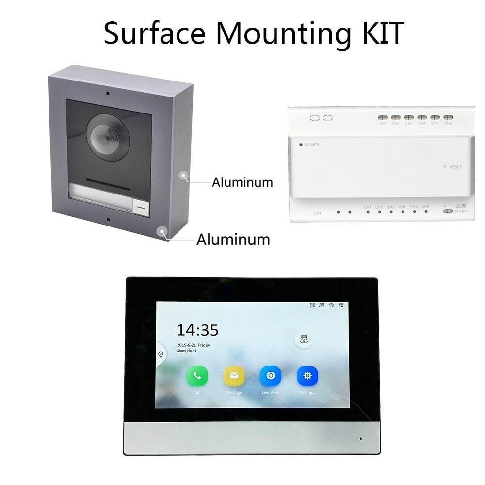 Hik Original Multi-language 2-Wire Video Intercom KIT,IP Doorbell,Outdoor Camera And WiFi Indoor Monitor