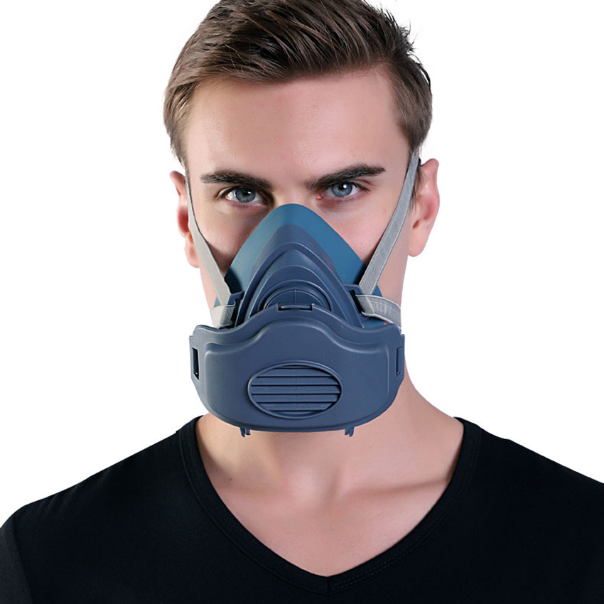 Silicone / Rubber Respirator Mask Half Face Reusable Professional Breathing Protection Mask Against Dust, Pollen, Pesticides