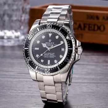 Top Luxury Brand WINNER Black Watch Men Women Casual Male Watches Business Sports Military Stainless Steel Watch