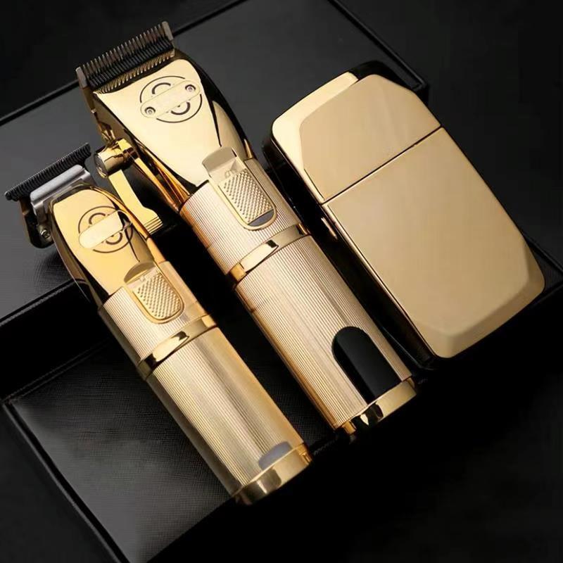 Pop barbeiros p600 700 800 máquina de cortar cabelo elétrica aparador cabelo sem fio barbeador 0mm men ajustável barbeiro máquina corte cabelo