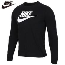 Original NIKE Long Sleeve Black 100% cotton Soft Tshirts Comfortabe Clothing Lim