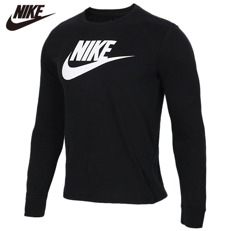 Original <font><b>NIKE</b></font> Long Sleeve Black 100% cotton Soft <font><b>Tshirts</b></font> Comfortabe Clothing Limited Sale image