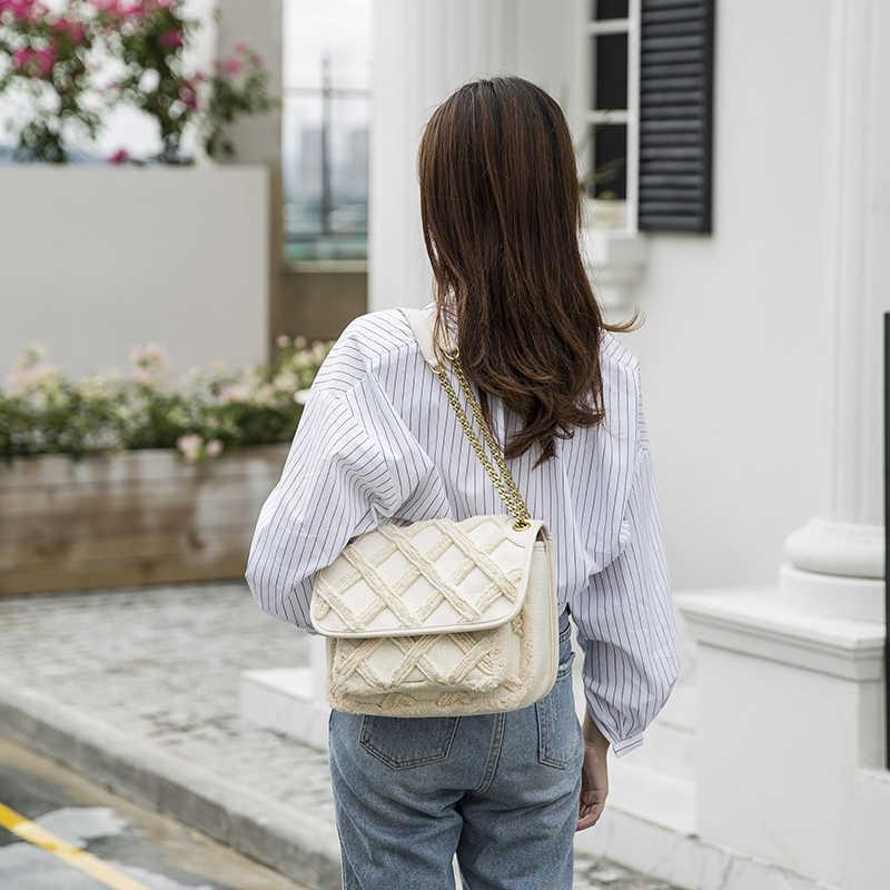Große Schulter Tasche Frauen 2020 neue mode Reisetaschen vintage leinwand Tasche Weibliche Luxus geldbörsen und Handtaschen Frauen Taschen Designer