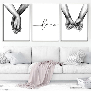 Canvas Painting Wall Art Peinture Tableau Mural Nordic Posters And Prints Poster Love Laminas Decorativas Pared Cuadros