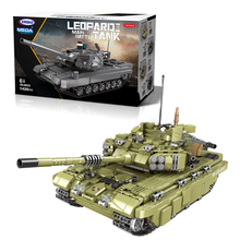 The Military Technic 06015 Army Theme Armored Tank Building Blocks WW2 Weapon With Figures Bricks Boy's Birthday Gift Box Toys the military technic xingbao new 06042 army theme armored tank building blocks ww2 weapon figures bricks boy s birthday toys