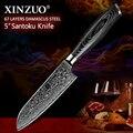 """XINZUO 5 """"zoll Japan Kochmesser 67 schichten Japanischen Damaskus Stahl Küche Messer Razor Sharp Santoku Messer mit Pakka holz Griff-in Küchenmesser aus Heim und Garten bei"""