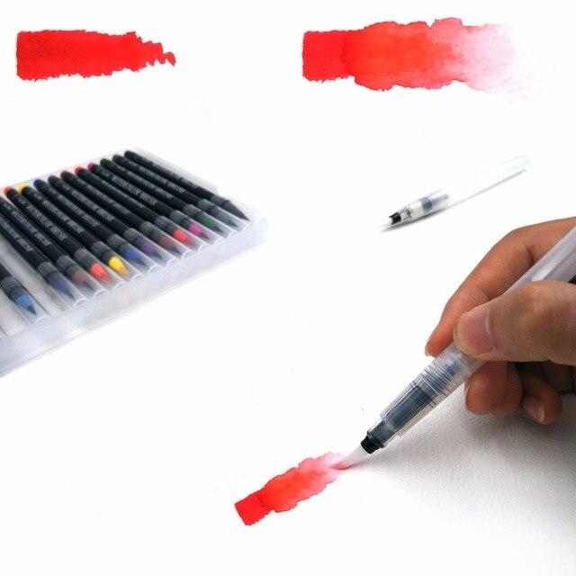 20 Color Watercolor Painting Markers Pen Premium Soft Brush Pen Set Coloring Books Manga Comic Calligraphy Art Marker 3